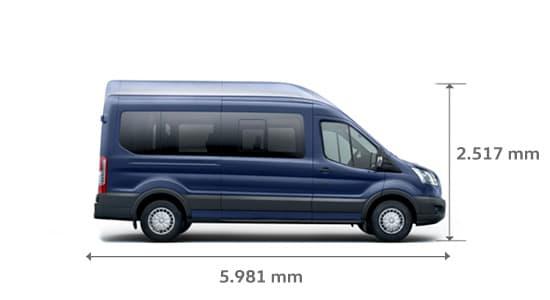 ford transit minibus medidas